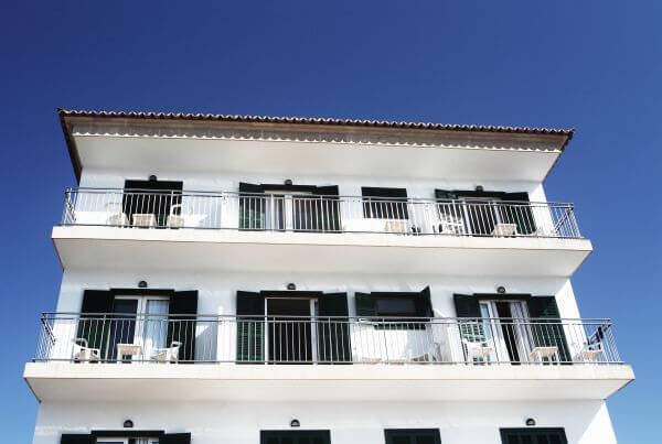 Public Domain Images Vacation Palma Fruits Sun Apartments Black White Building Balcony photo
