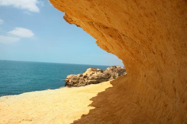 Public Domain Images Beach Blue Sky Beach Tan Cliff photo