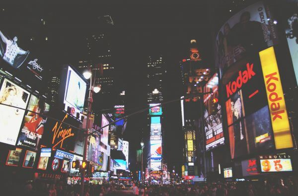 – Times Square New York City Nightlife Billboards Advertisements People photo