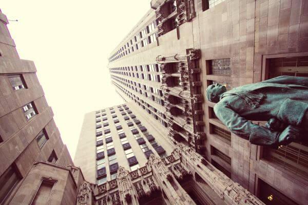 Downtown Chicago Tribune Building Statue photo