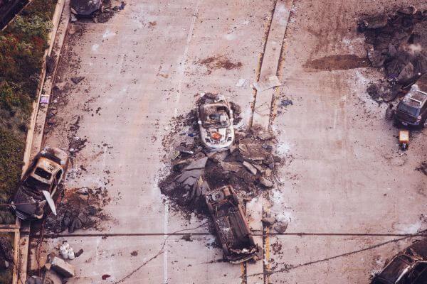 Car Crash Wreck Armageddon Explosion Chicago photo