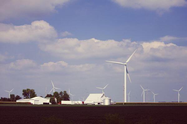 Wind Turbines Energy Farm Indiana photo