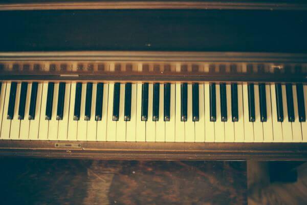 Old Vintage Piano Keys Wood photo