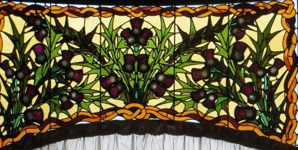 stained-glass thistles photo