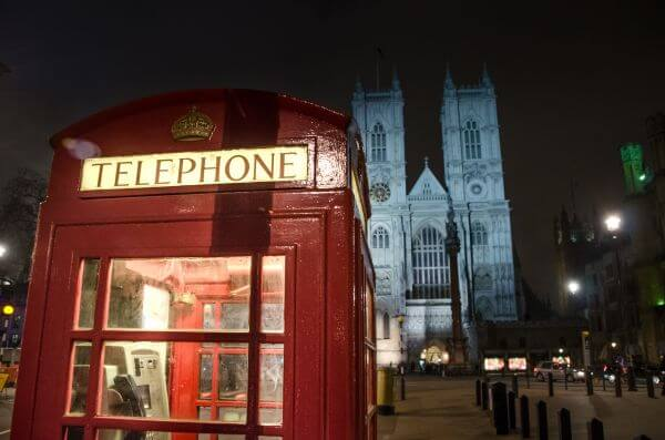 Phone booth in London photo