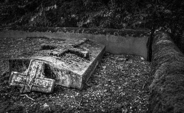 Broken grave photo