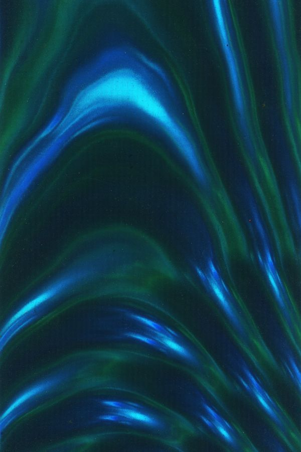 wavy blue-green foil photo