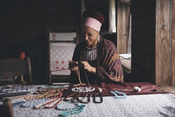 Russian woman-artisan photo