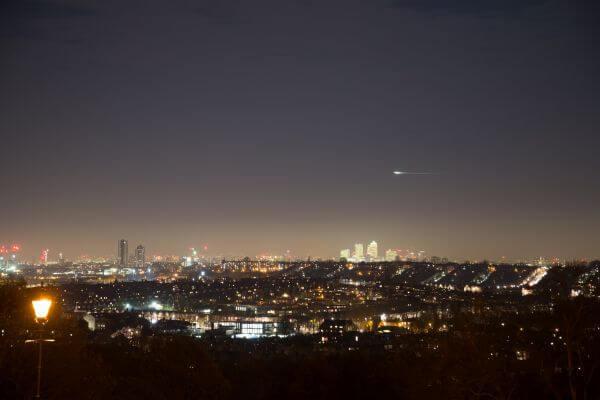 London at night photo