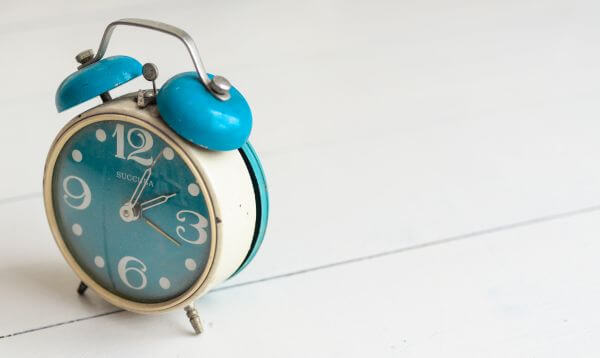 Blue alarm clock photo