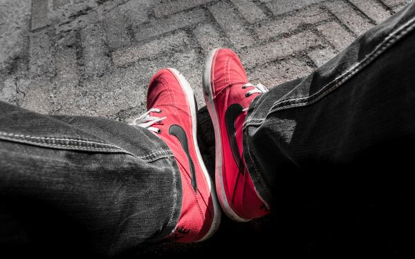 Red Nikes photo