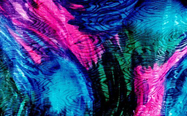 shiny multicolor fabric photo