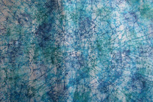 blue tie-dyed paper photo