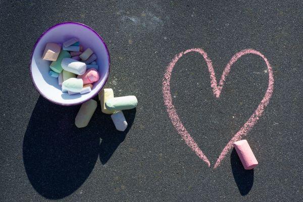 Crayon heart photo