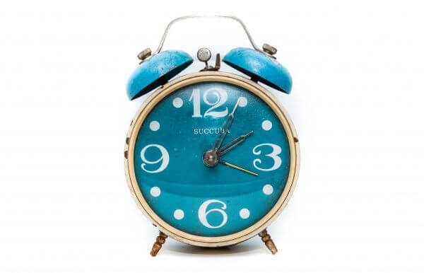Alarm clock blue photo