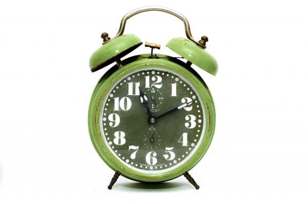 Alarm clock green photo