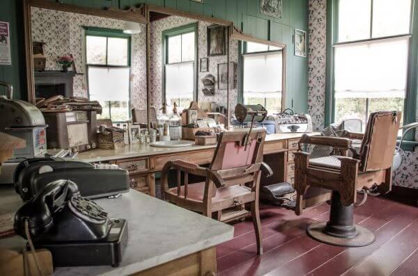 Old barbershop photo