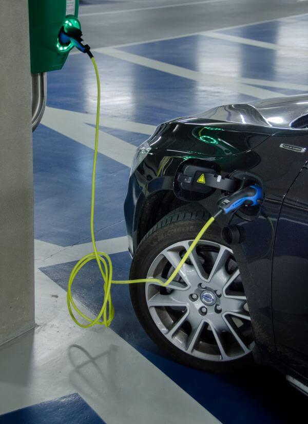 Charging a car photo
