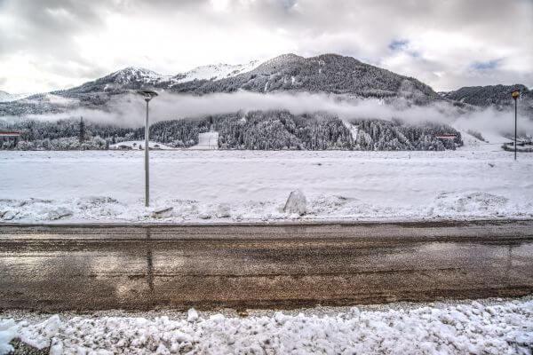 Layered winter photo