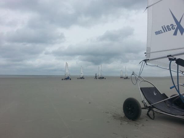 A wind day at the beach photo