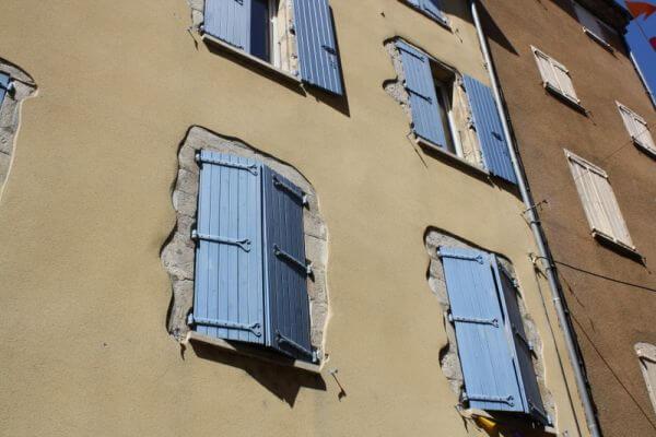 shuttered windows in France photo