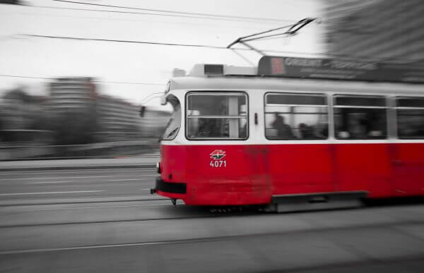 Tram in Vienna photo