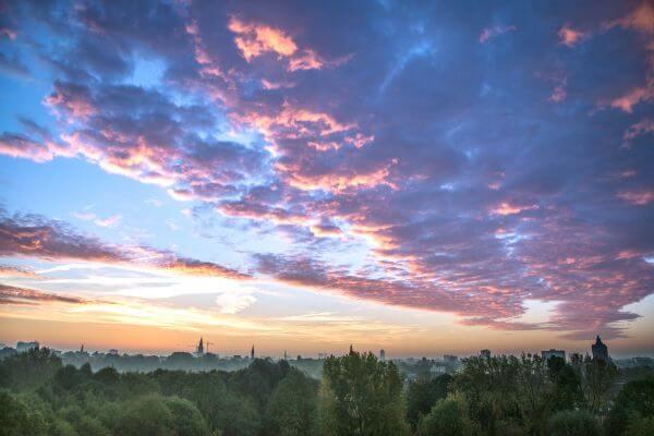 Beautiful pink clouds photo