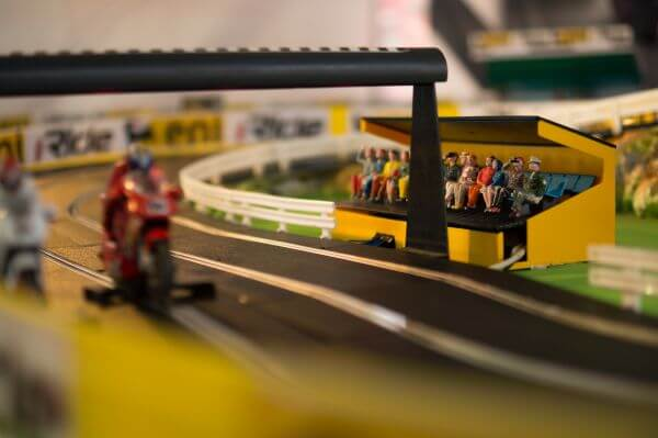 Miniature race track photo