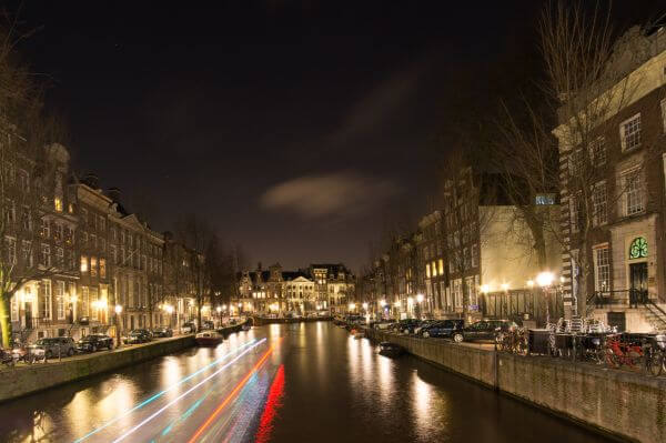 Long exposure canal Amsterdam photo