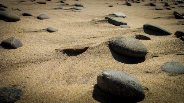 Rocks at the beach photo