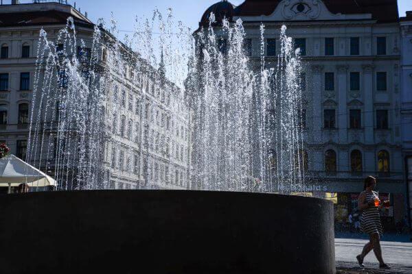 Fountain in Brno photo