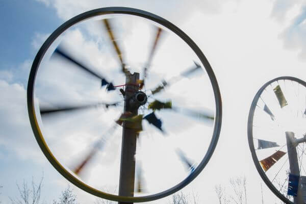 Spinning wheels photo