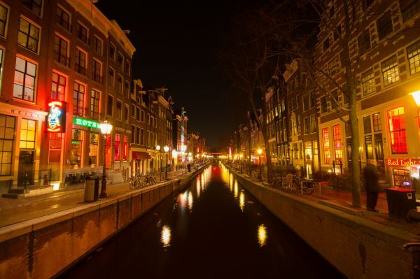 Red light district photo