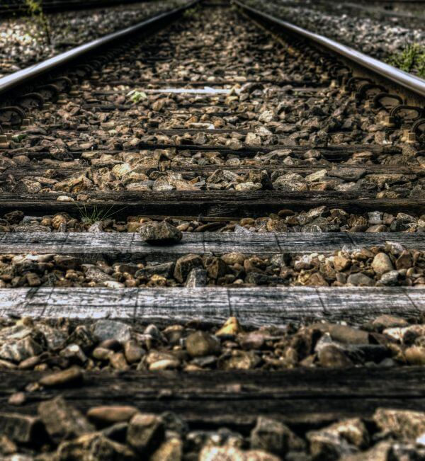 Rail road track photo
