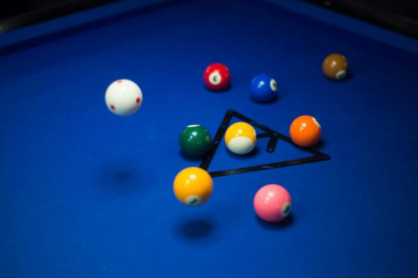 Magic rack pool break photo
