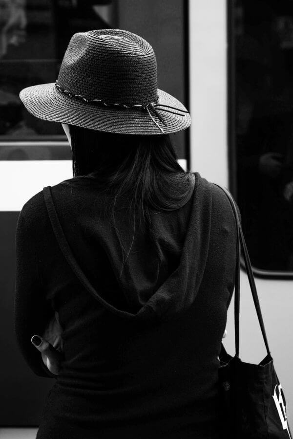 The woman and the hat photo