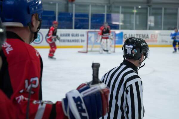 Ice hockey, the referee photo