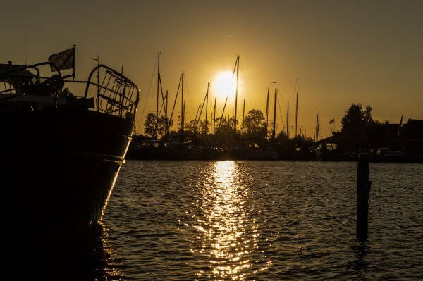Sunset at the harbour photo