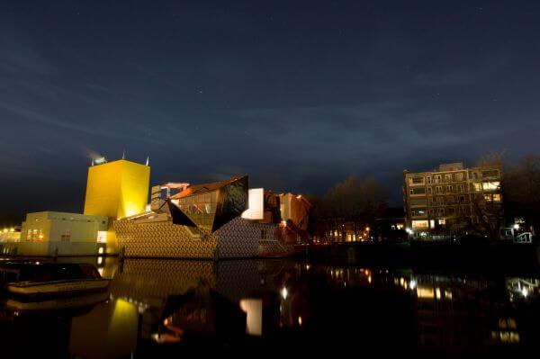 Groninger museum at night photo