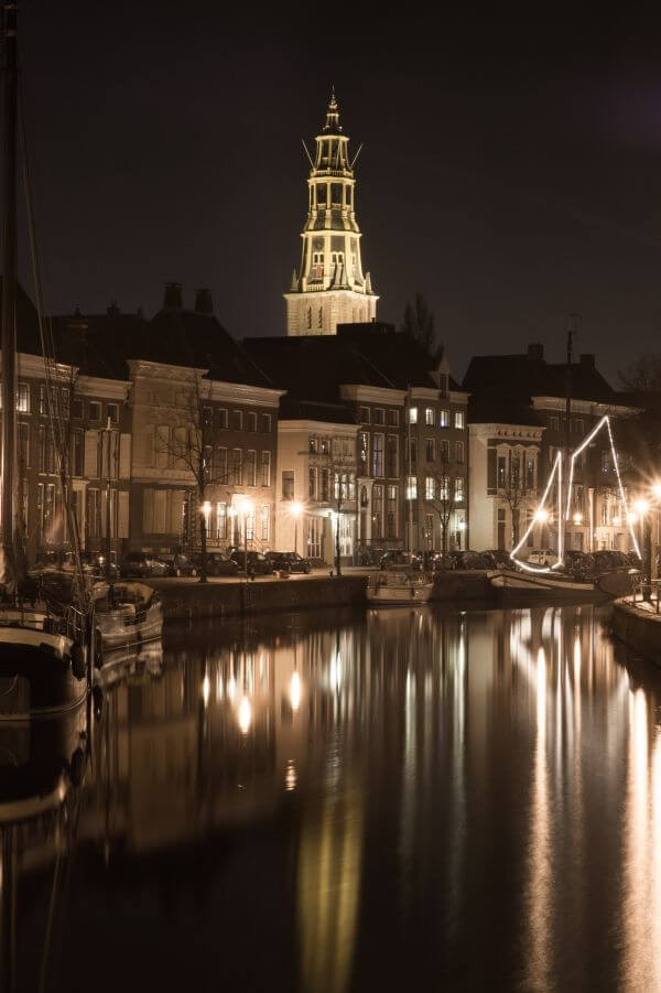 Groningen at night photo