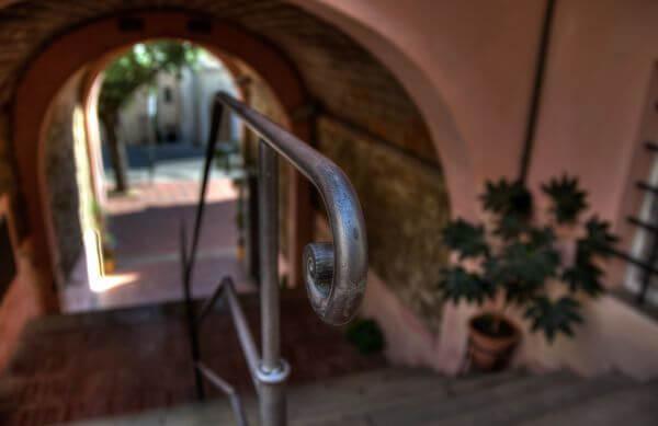 Iron stairs photo