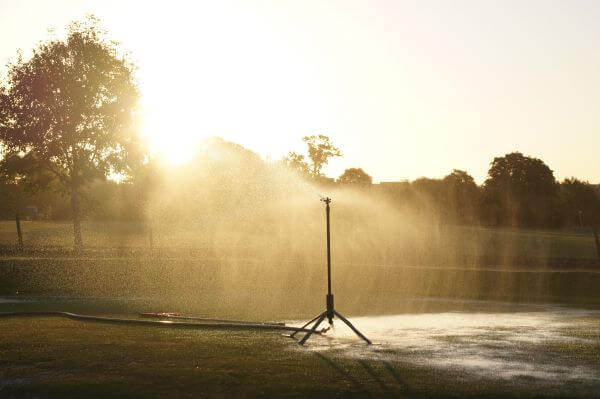 Watering the golf course photo