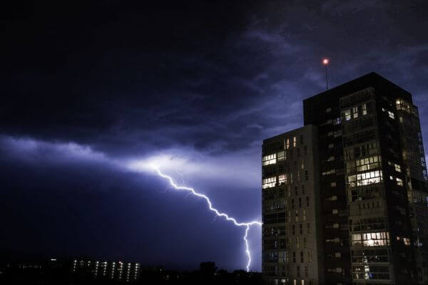 Crazy lightening photo