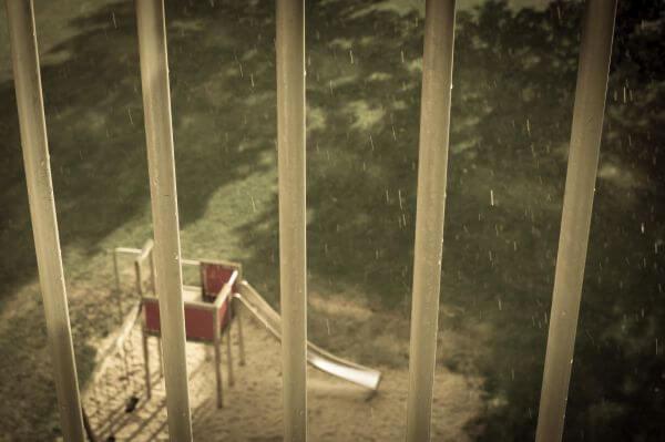 Sun, rain and the playground photo