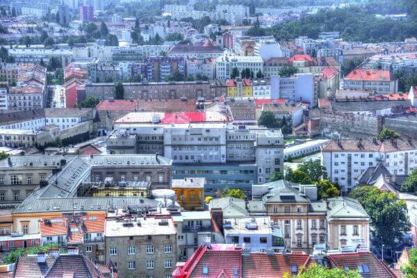 Brno in color photo