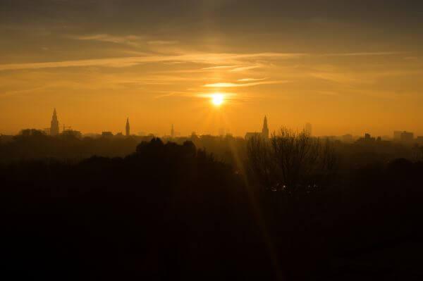 Sunset city photo