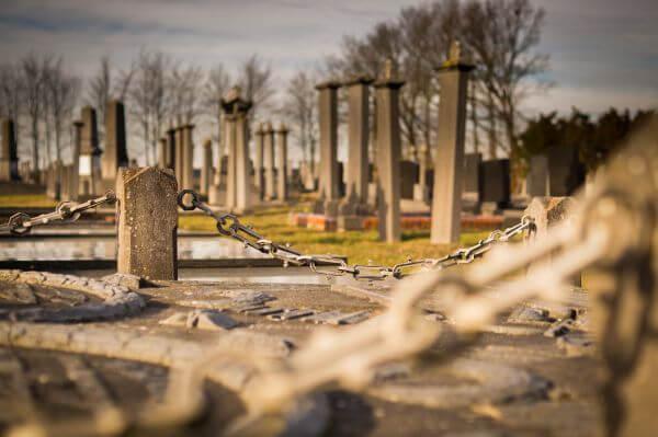 At the graveyard photo