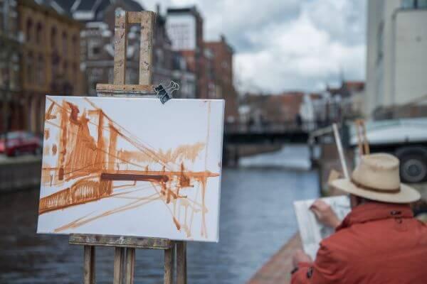 Painting the bridge photo