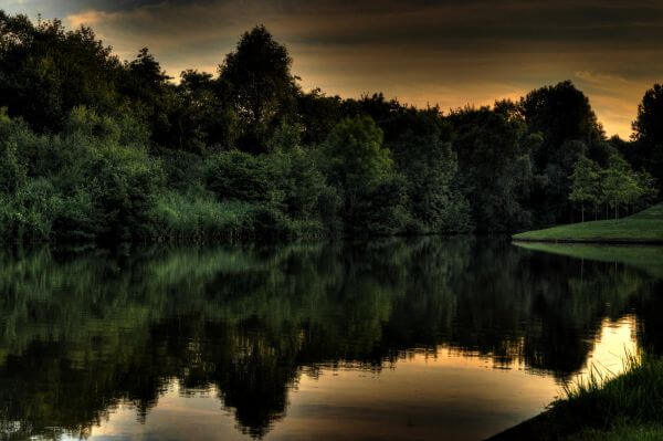 Lake in HDR photo