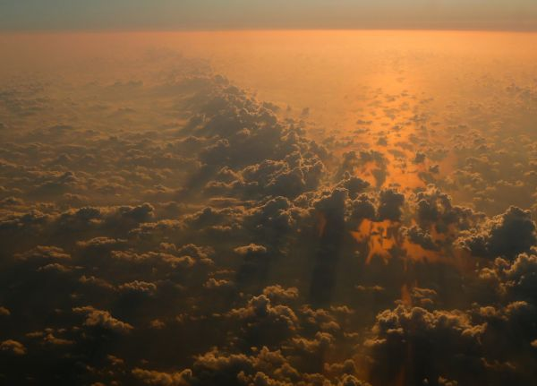 Clouds from a plane photo